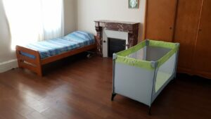 Chambre individuelle maison d'accueil maternel Ligueil