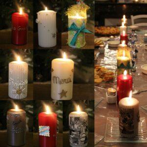 Photo de bougies réalisées par les occupantes et salariées de Laval